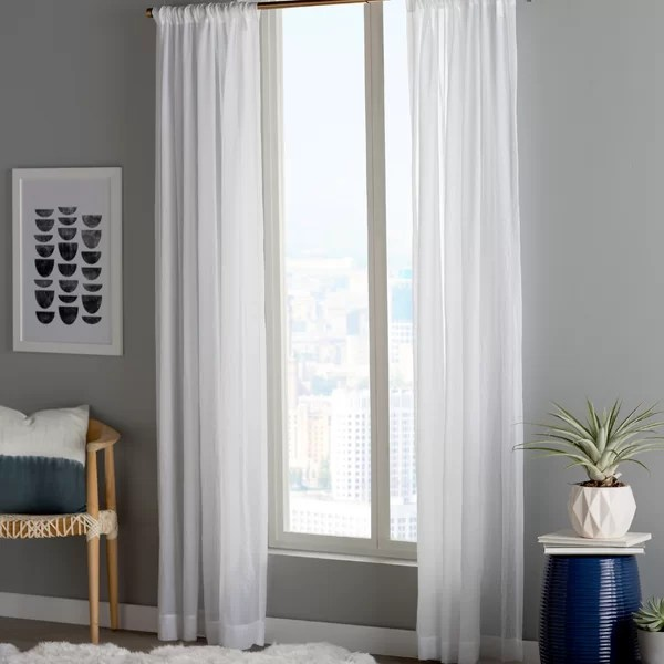 modern contemporary small window curtains