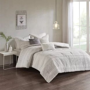 brandon cotton clip jacquard comforter set