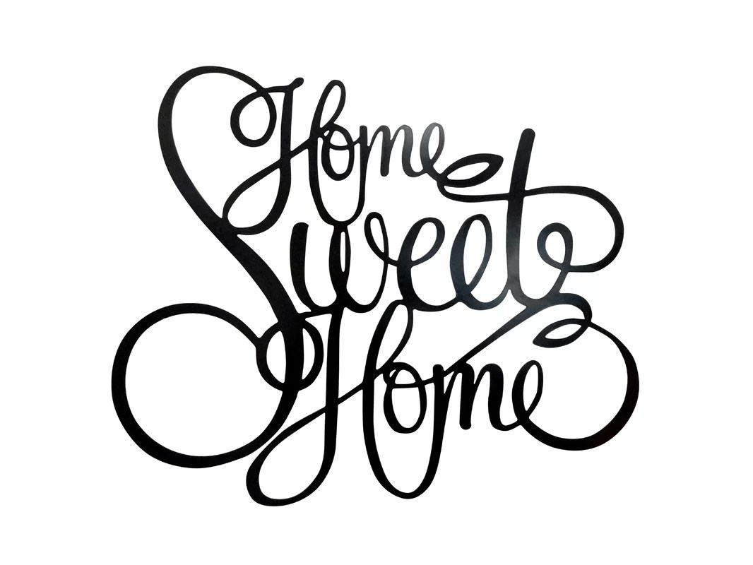 Red Barrel Studio Laser Engraved Home Sweet Home Wall