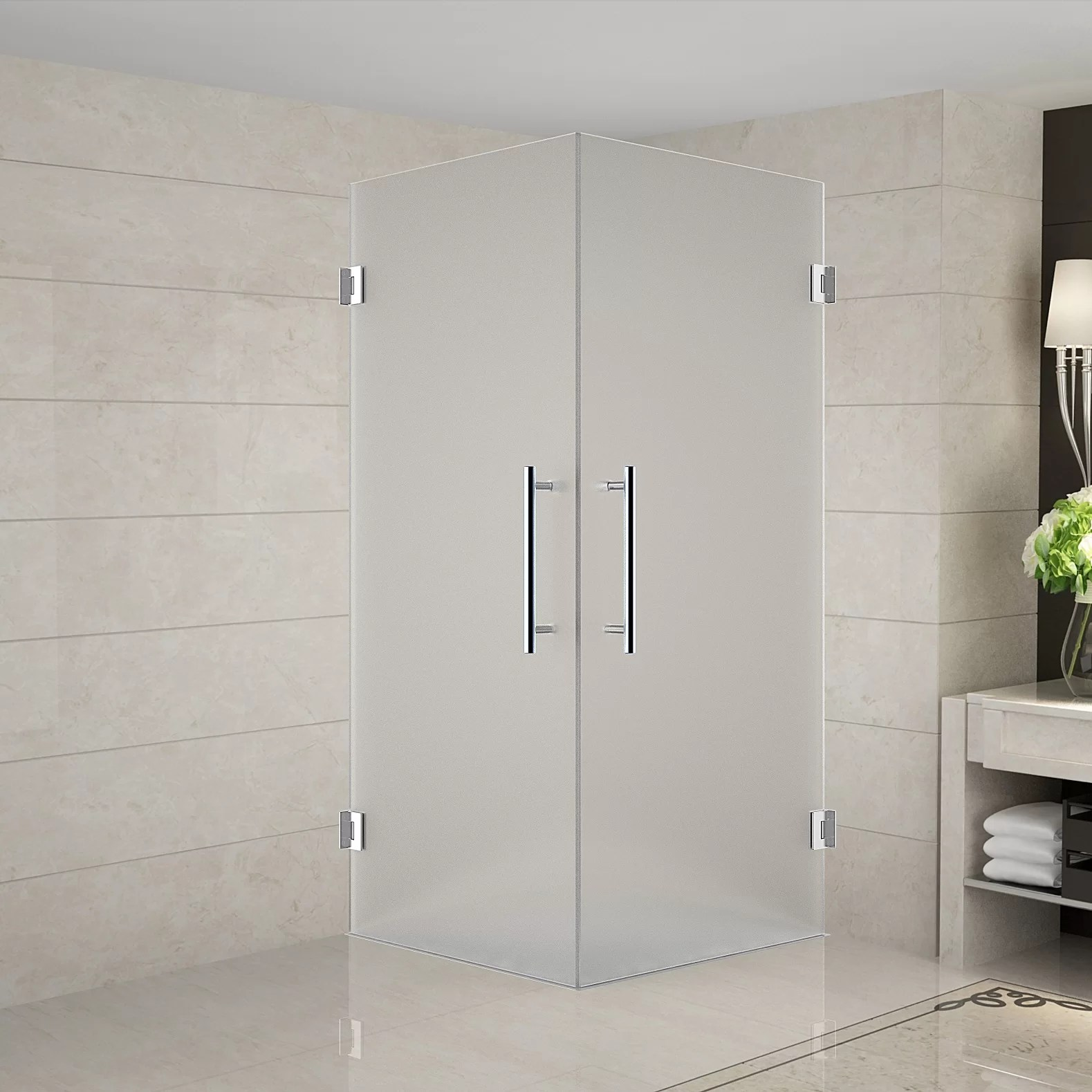 Vanora 32 X 72 Square Hinged Shower Enclosure