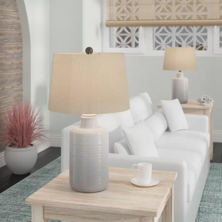 white table lamp set