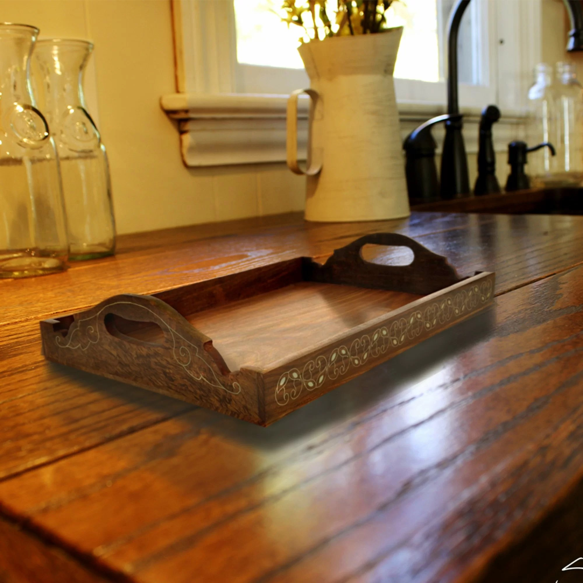 ottoman coffee table tray