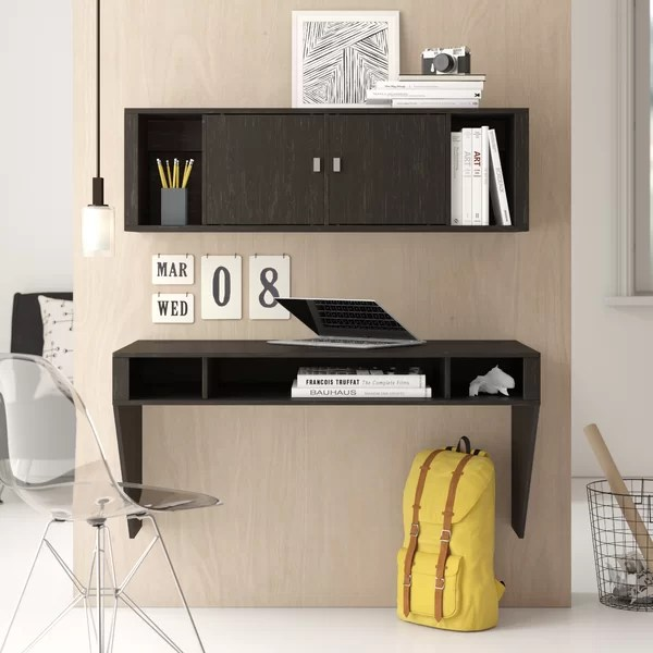 Miraculous Dowlen Floating Desk With Hutch By Zipcode Design Download Free Architecture Designs Scobabritishbridgeorg