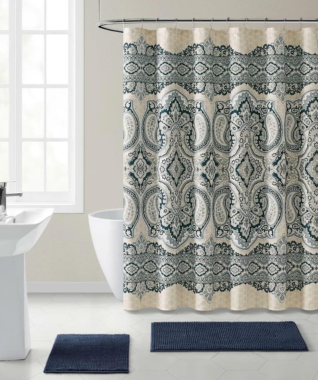 fabric shower curtain multi color