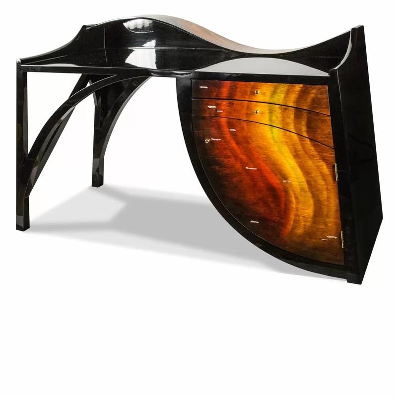 Michael Amini Illusions Solid Wood Desk Perigold