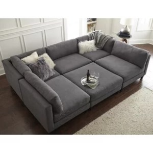 Camel Sectional   Wayfair Chelsea Sectional with Ottoman