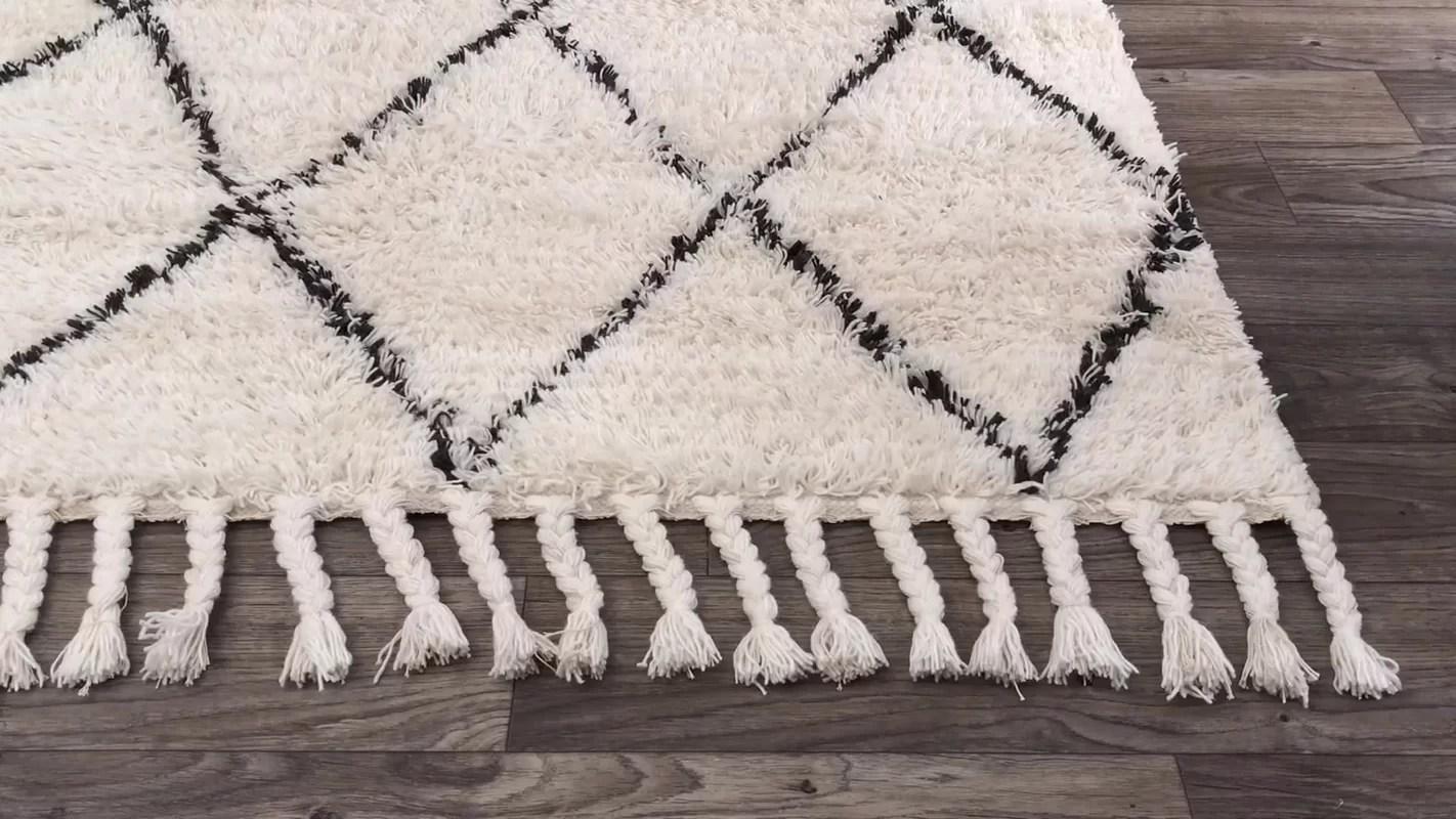 Langley Street Twinar Hand Knotted Wool Off WhiteDark