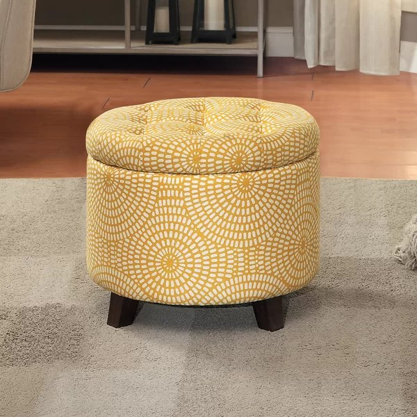 small ottoman with legs