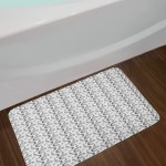Bath Black And White Bath Mat Bathroom Home Decor Plush Non Slip Mat 29 5 X 17 5 Home Furniture Diy Tohoku Morinagamilk Co Jp