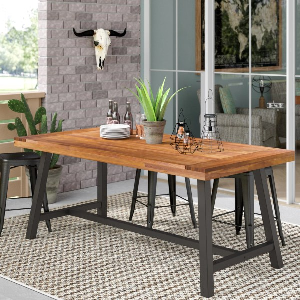 17 Stories Polanco Outdoor Dining Table   Reviews   Wayfair