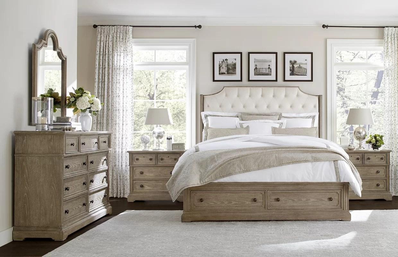 Stanley Wethersfield Estate Upholstered Storage Panel Bed