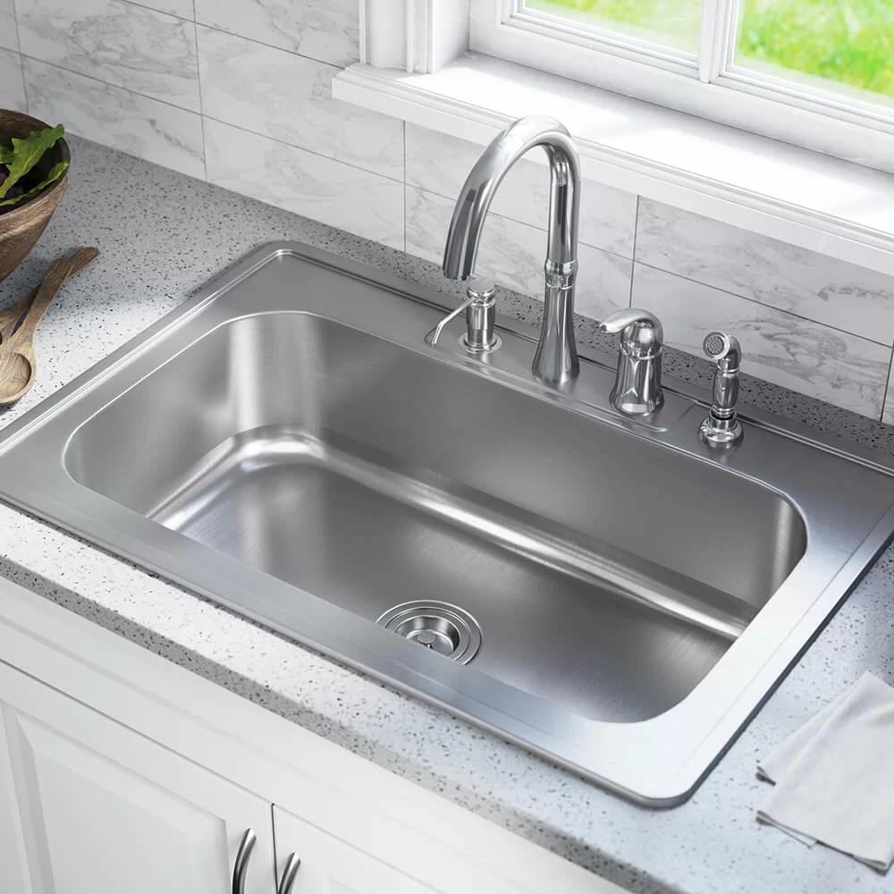 stainless steel 33 x 22 drop in kitchen sink