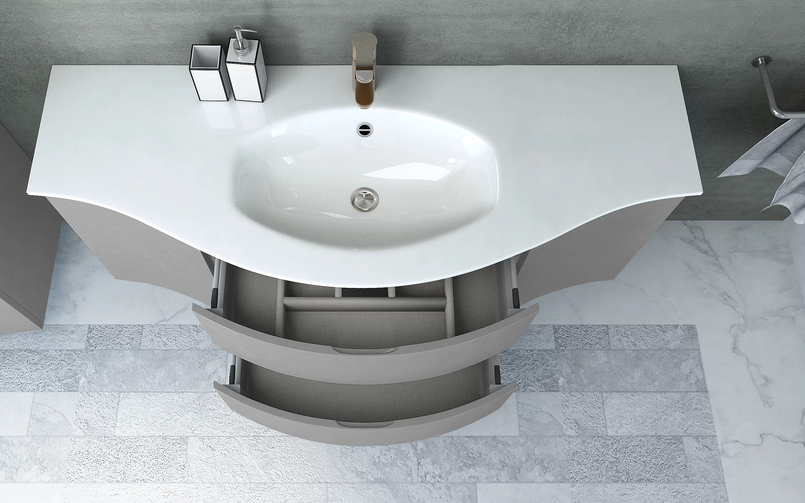 ragnhild integrated u shaped drop in bathroom sink with overflow