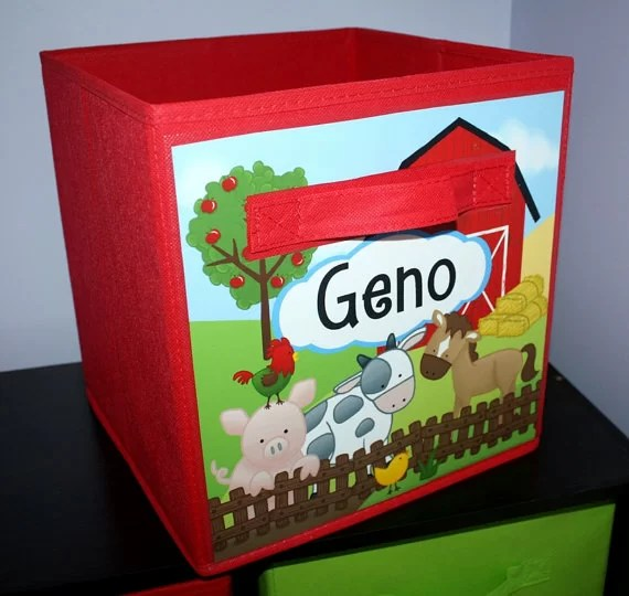 Farm Barnyard Personalized Fabric Bin By Toad And Lily 2019