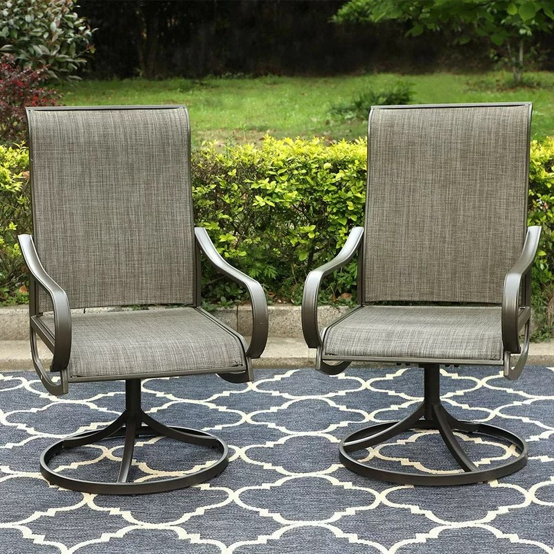 swivel patio dining chair