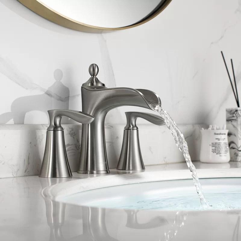 ukiah two handle 8 inch widespread bathroom faucet
