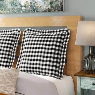 100 cotton plaid sham pillow