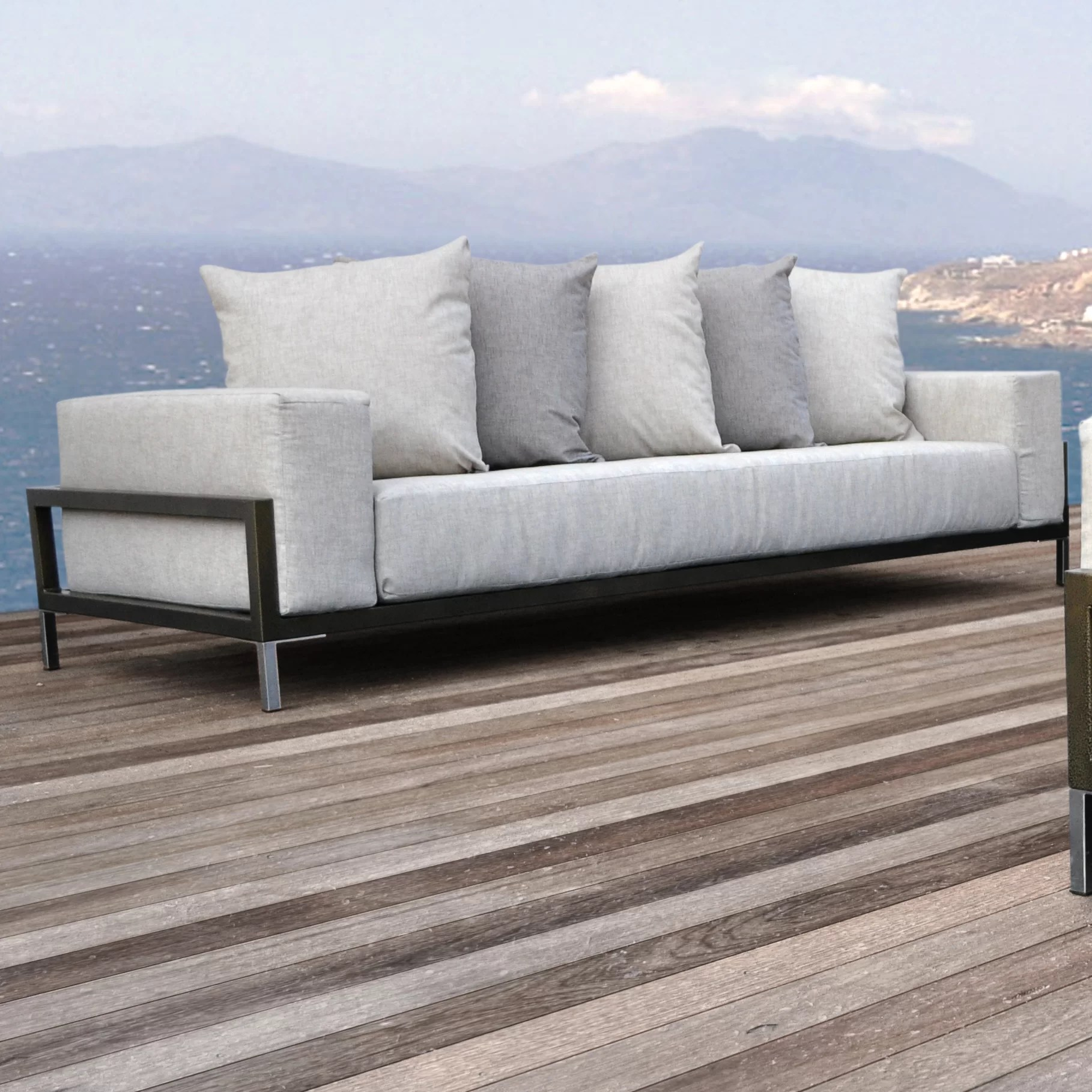 tilly 90 wide outdoor patio sofa with cushions