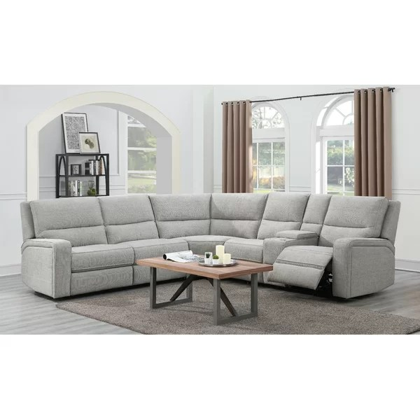 harlee 116 right hand facing reclining sleeper sectional