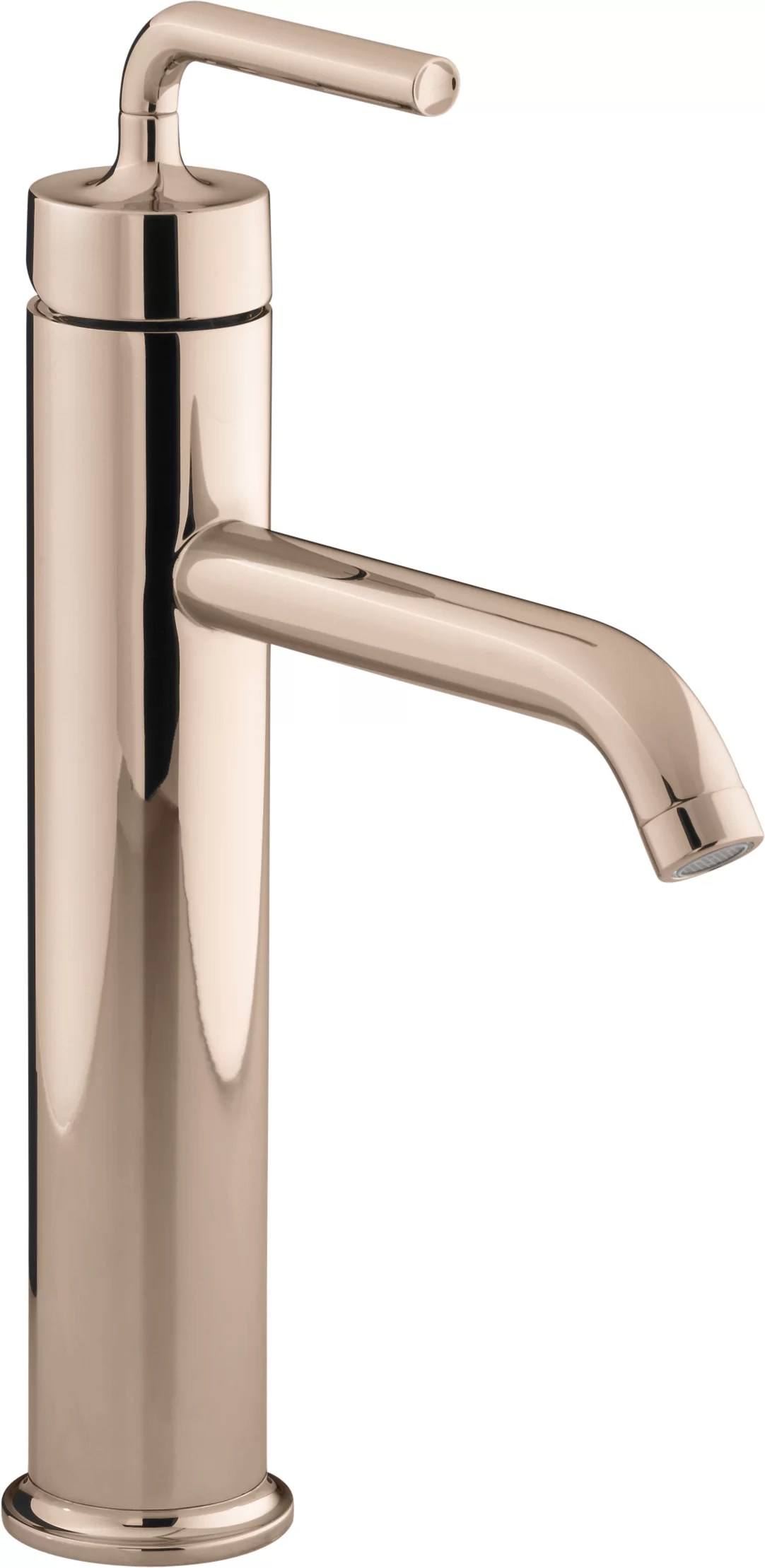 kohler purist tall single handle bathroom sink faucet with straight lever handle