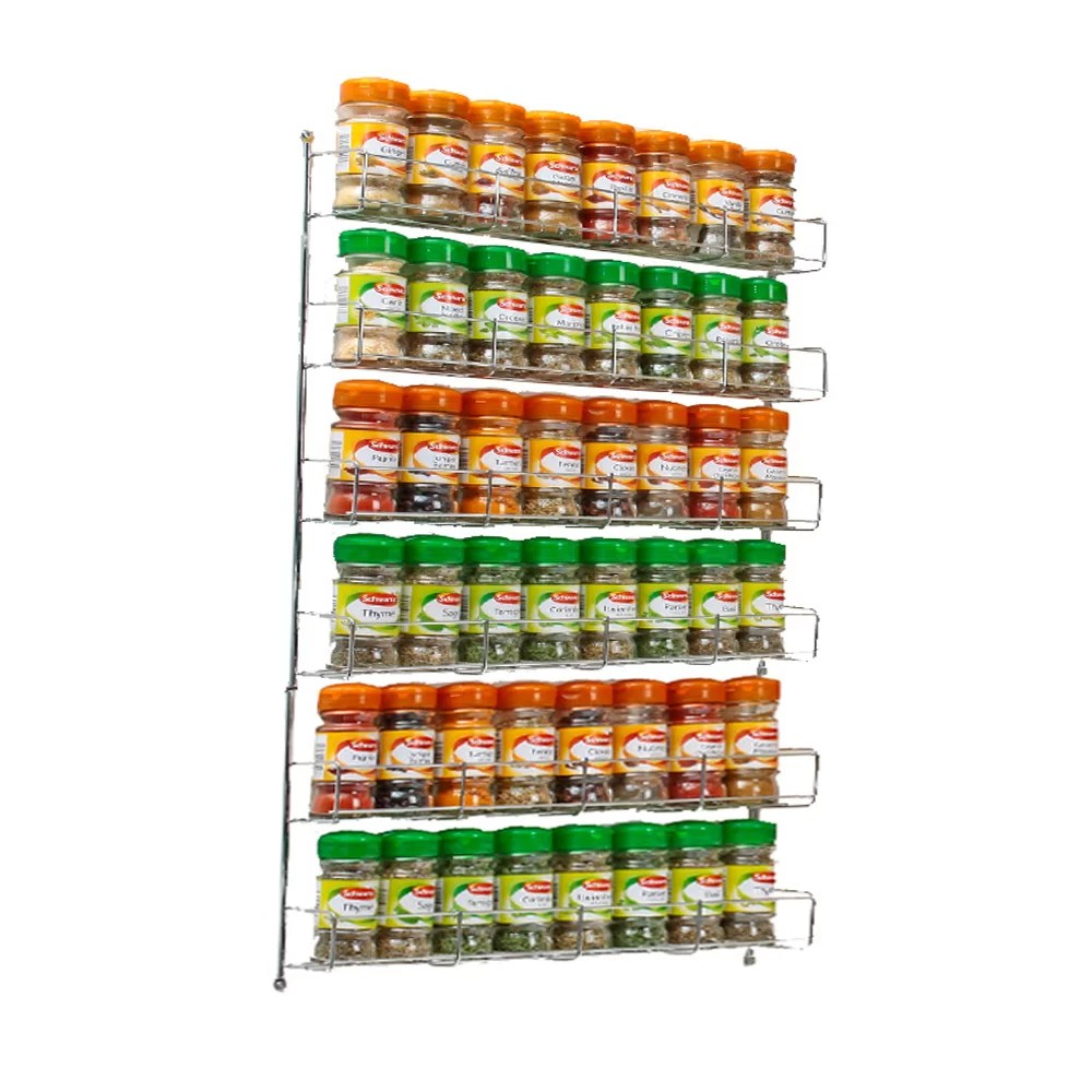 48 jar wall mounted cabinet spice rack