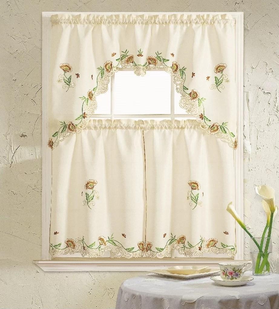 skipworth 3 piece kitchen curtain set