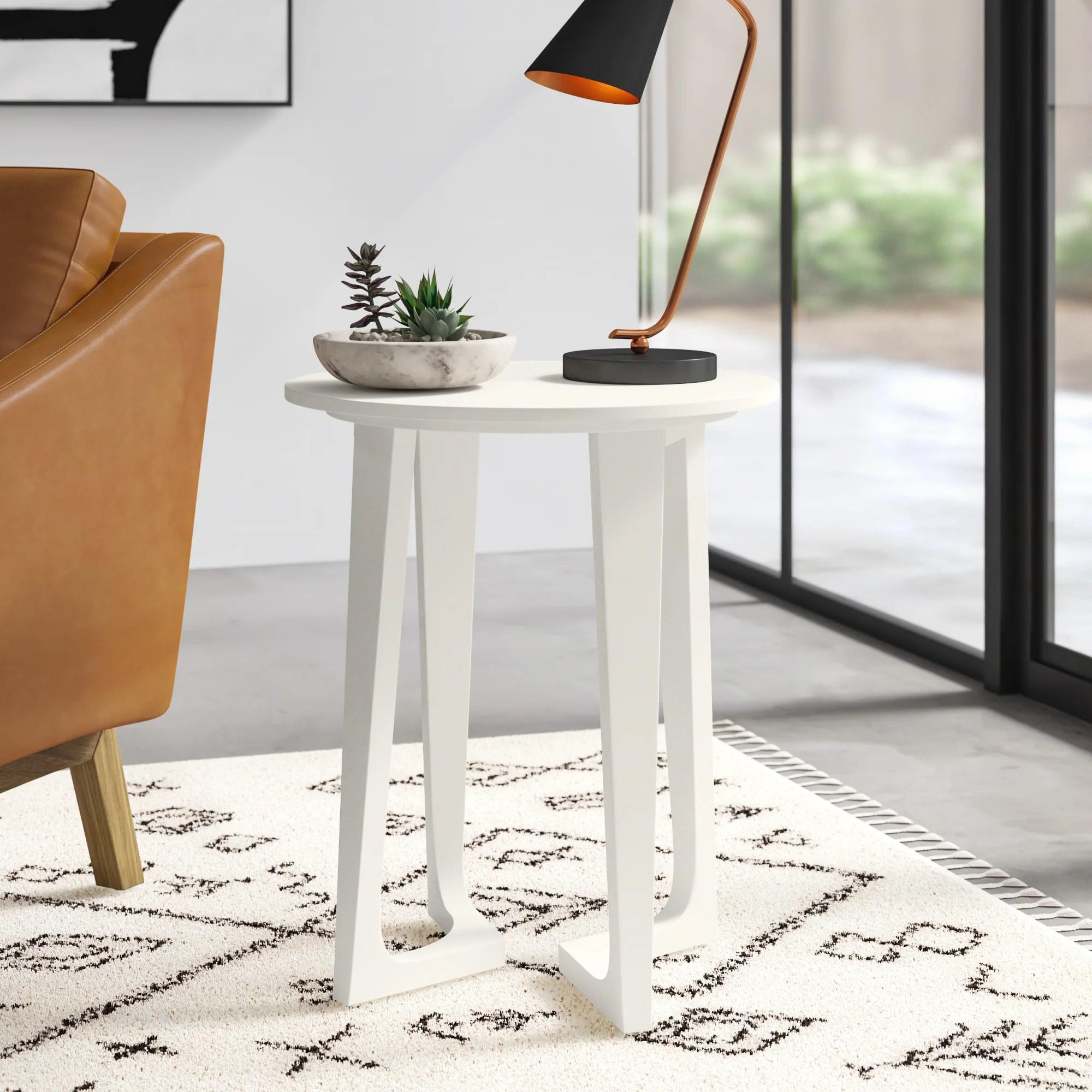 modern scandinavian end tables allmodern