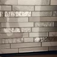 whistler ice interlocking 11 81 x11 81 glass mesh mounted mosaic tile in grey
