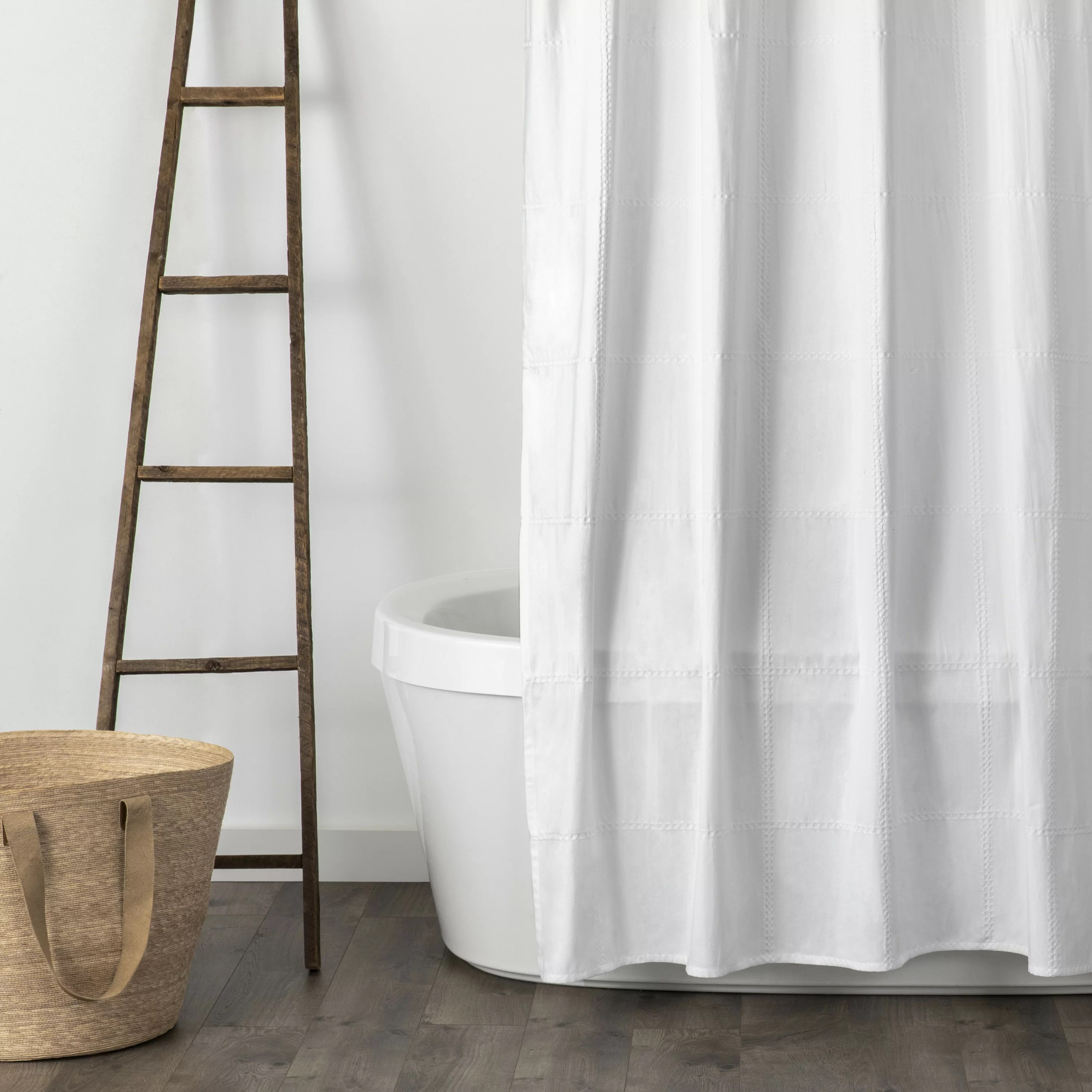 jules 100 cotton solid single shower curtain
