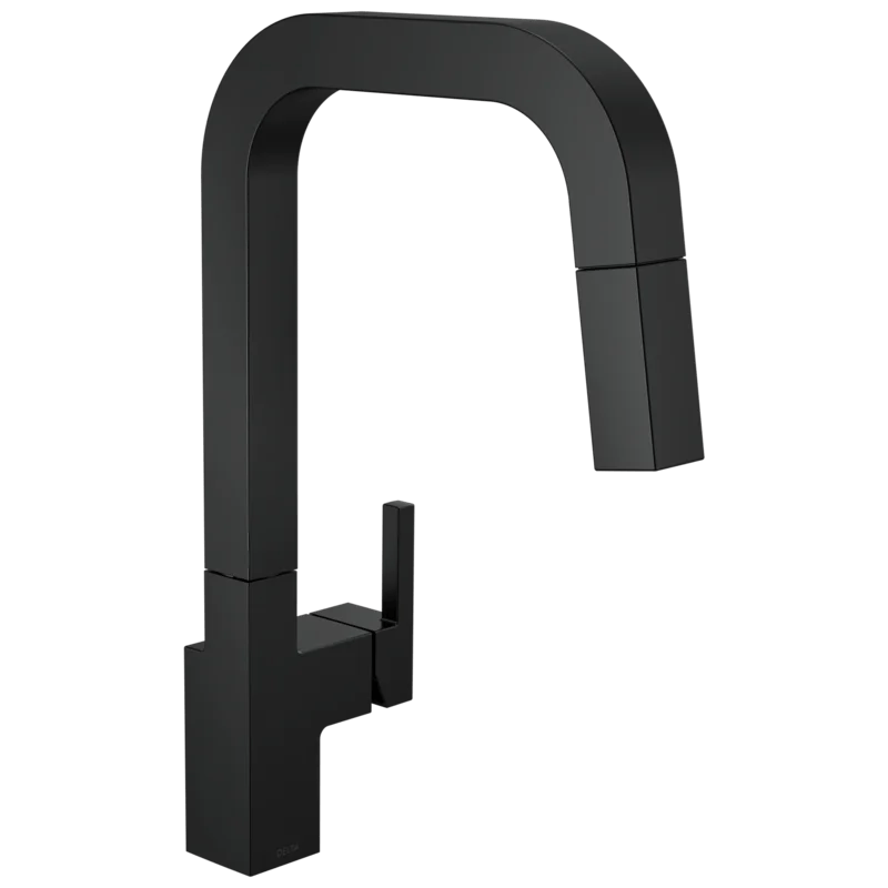junction pull down single handle kitchen faucet with magnatite docking