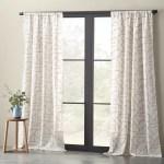 Eider Ivory Embroidered Linen Geometric Semi Sheer Rod Pocket Single Curtain Panel Reviews Wayfair