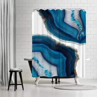emanuela carratoni blue agate single shower curtain
