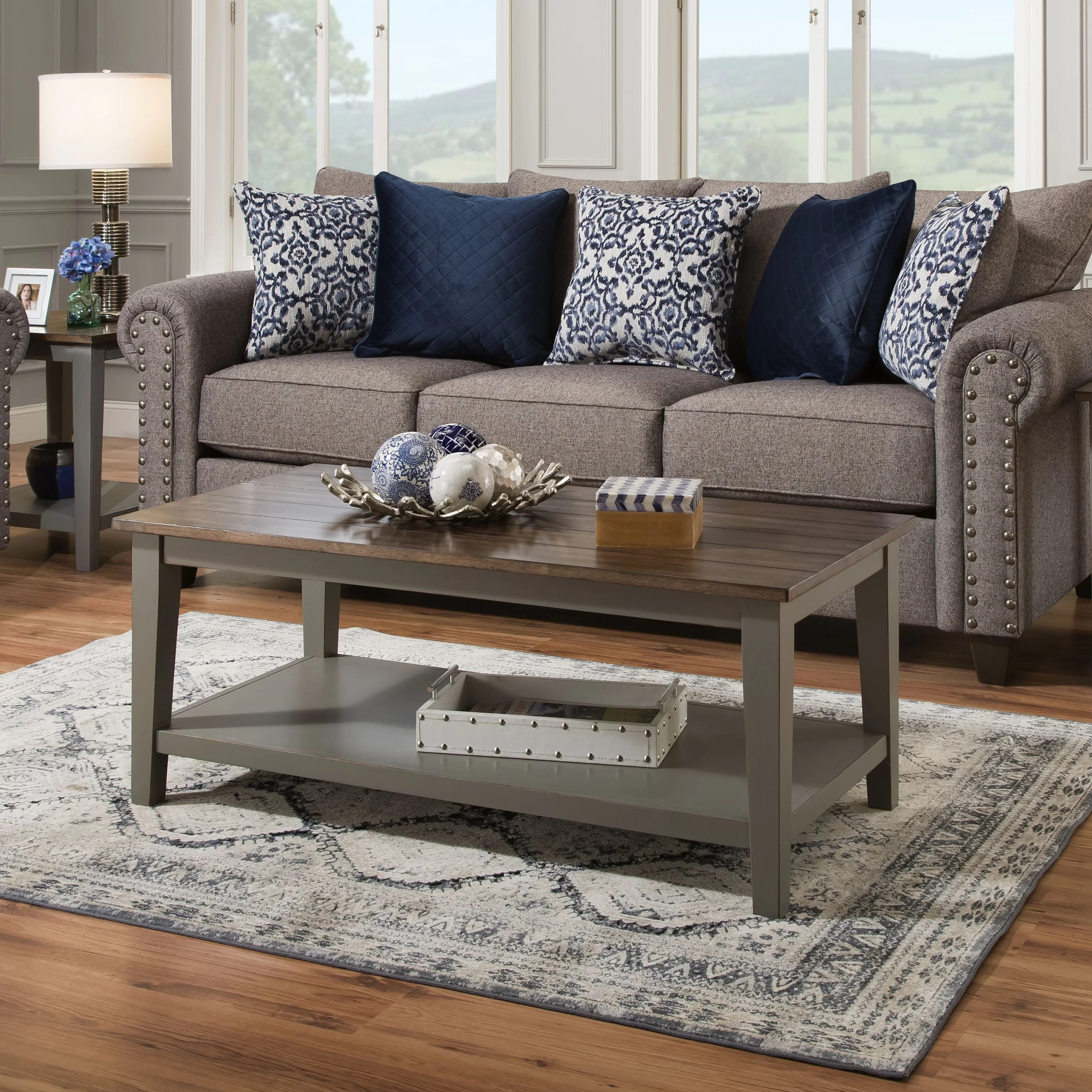colne solid wood coffee table with storage