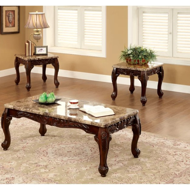 astoria grand albertus 3 piece coffee table set & reviews | wayfair