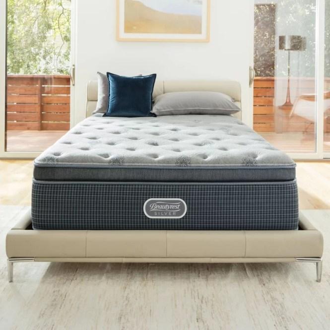 Beautysleep 13 5 Medium Firm Pillowtop Cooling Gel Memory Foam Mattress Set