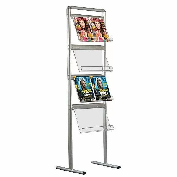 Mt Displays Free Standing Magazine Rack Stand Wayfair Ca