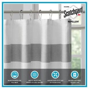 merrick striped single shower curtain