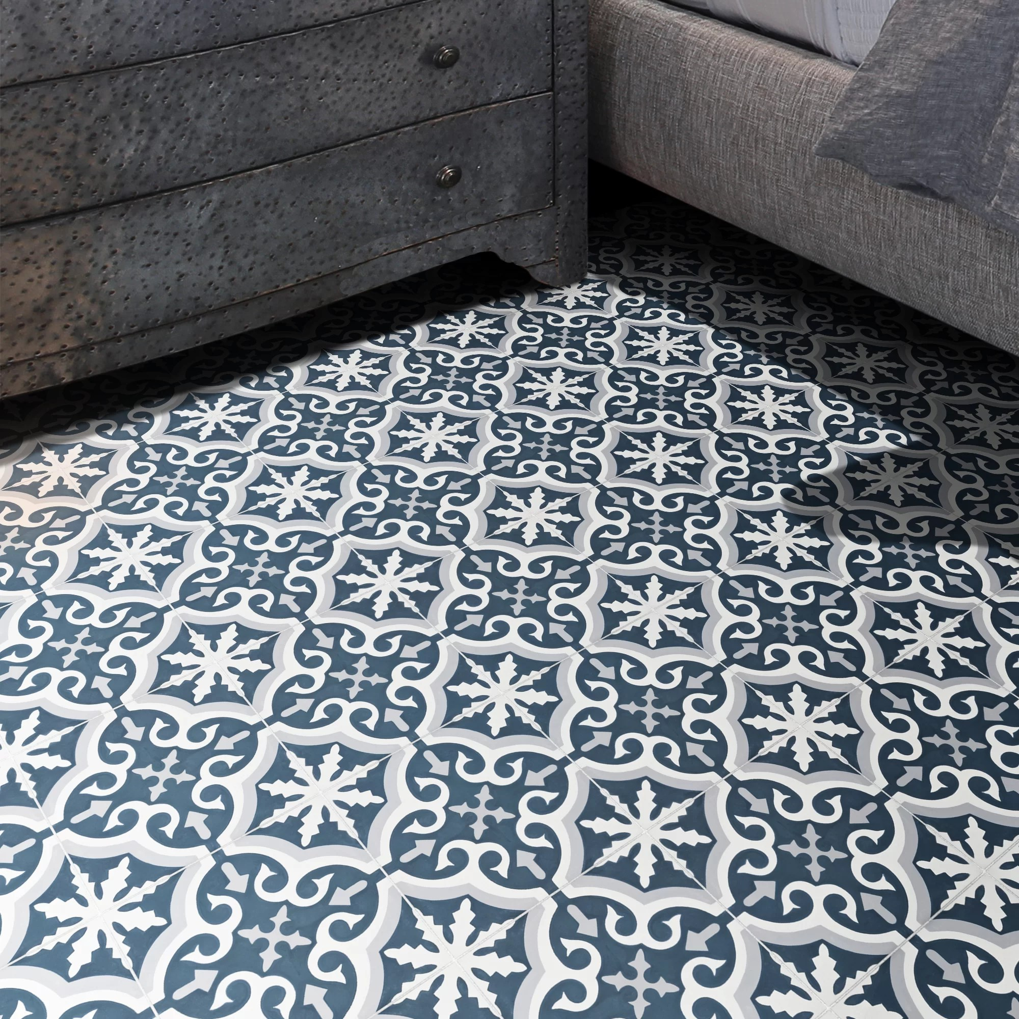 argana 8 x 8 cement patterned wall floor tile