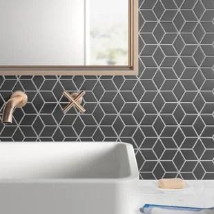 hull rhombus 2 x 3 porcelain mosaic tile