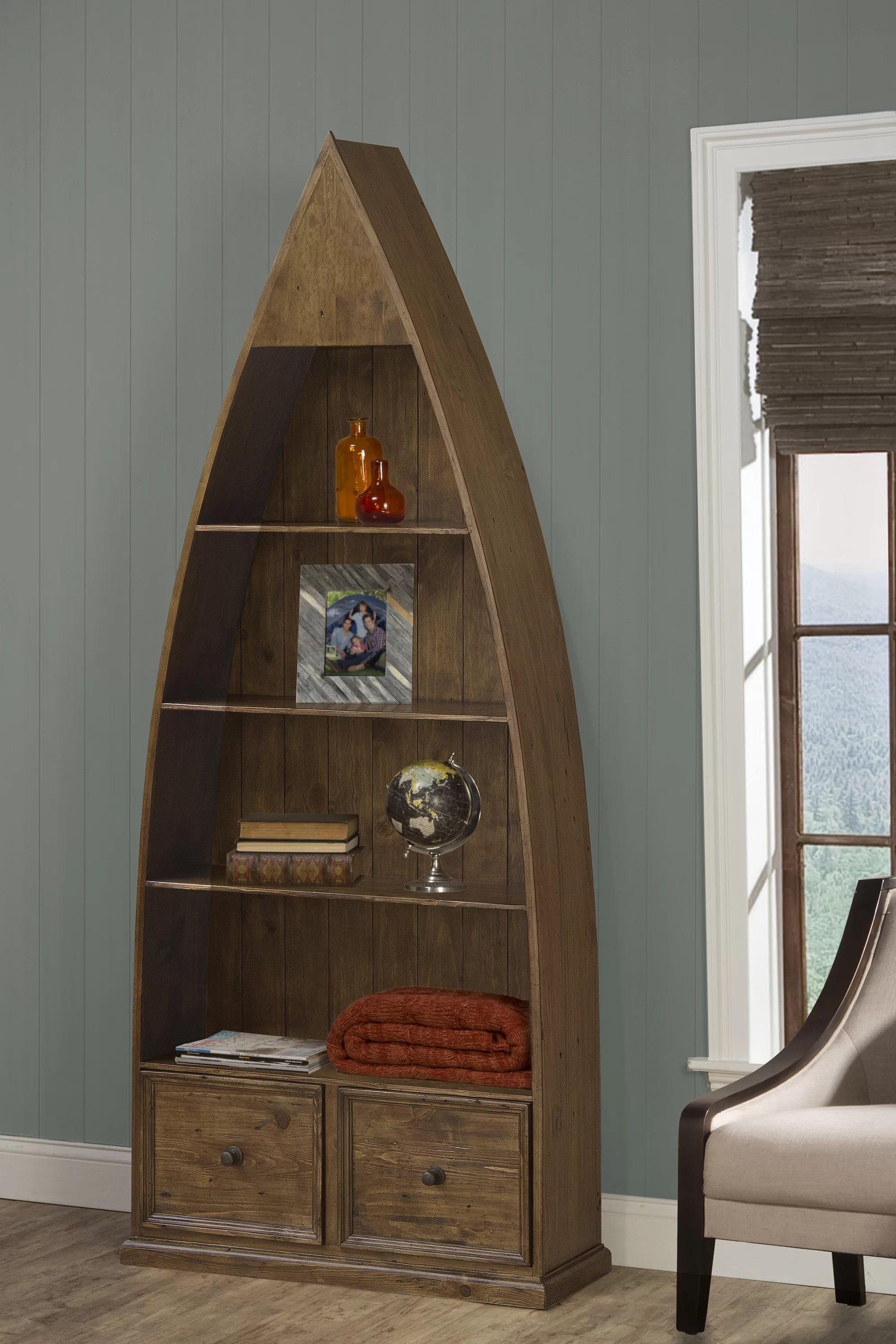 Mcalester Boat Bookcase