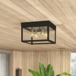 Mercury Row Tucana 4 Bulb Outdoor Flush Mount Reviews