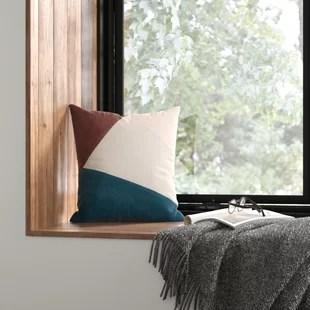 modern mid century throw pillows