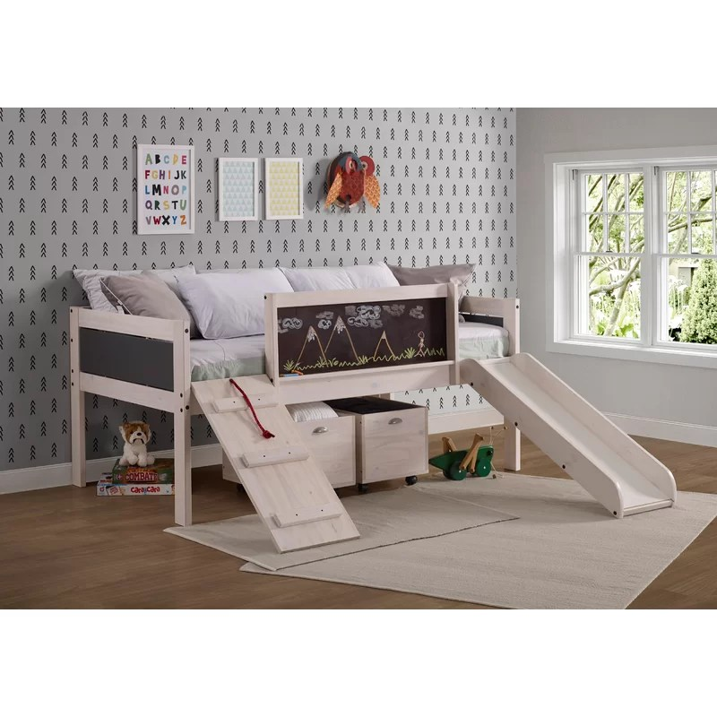 Zoomie Kids Schlemmer Twin Low Loft Bed With Drawers Reviews Wayfair