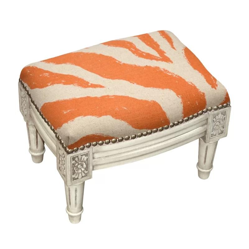 upholstered footstool ottoman