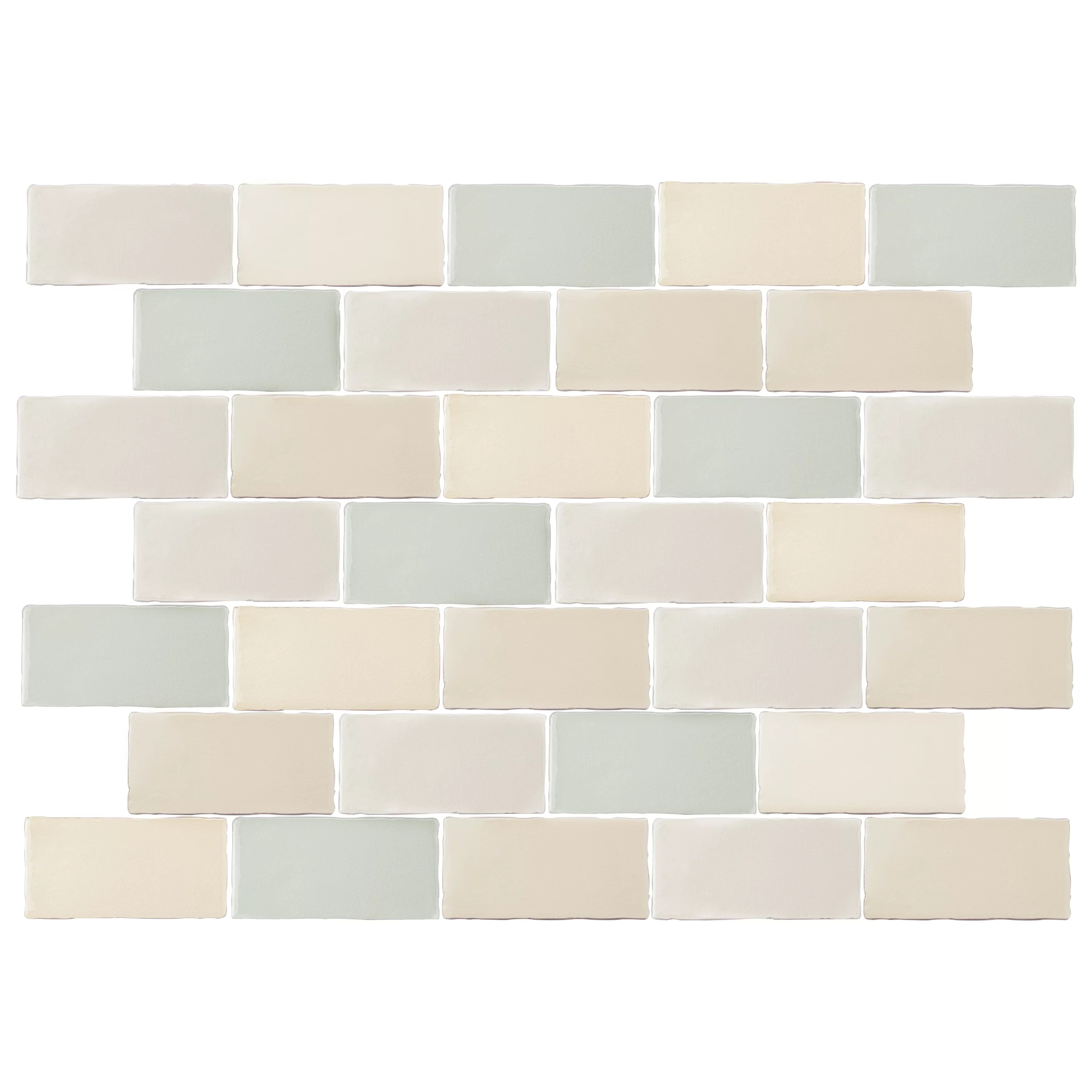 antiqua 3 x 6 ceramic brick look tile