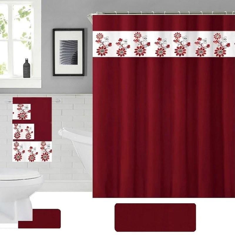 baysen 18 piece shower curtain set hooks
