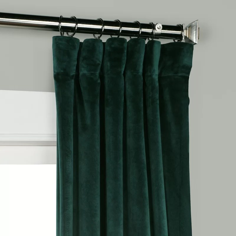 Riverton Solid Room Darkening Rod Pocket Single Curtain Panel