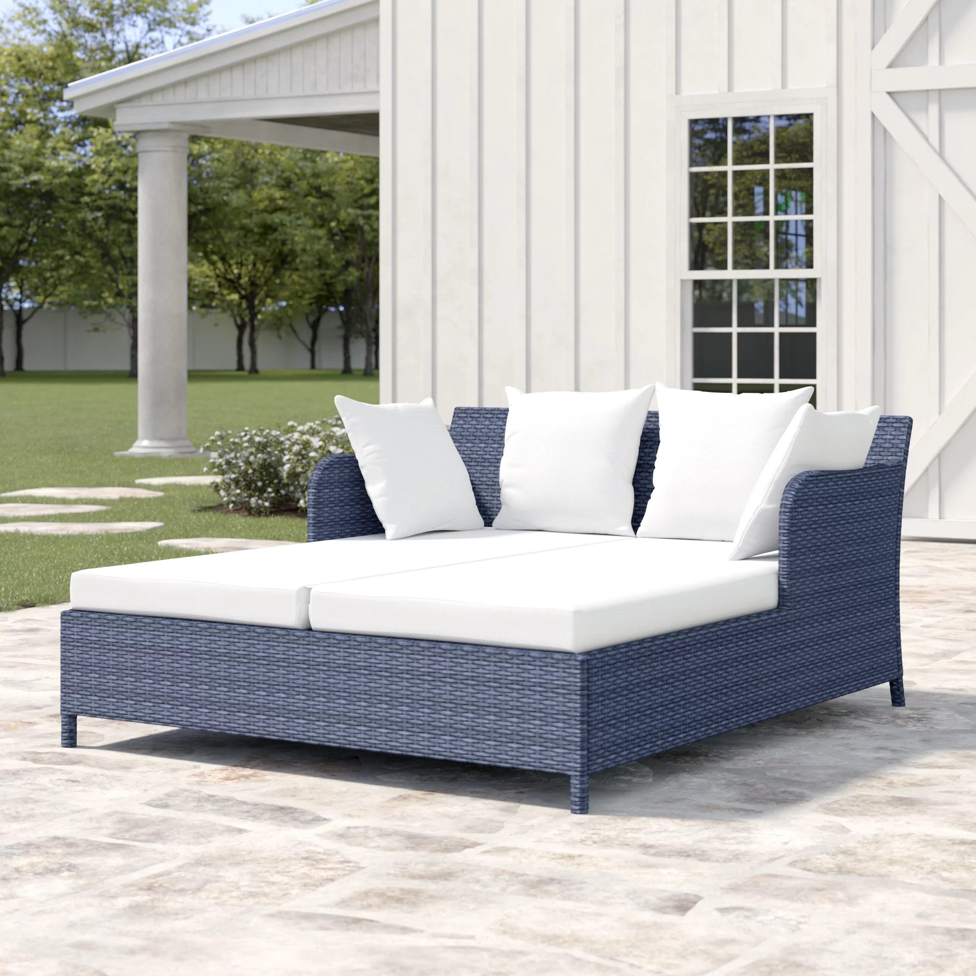 daley double chaise lounge with cushion