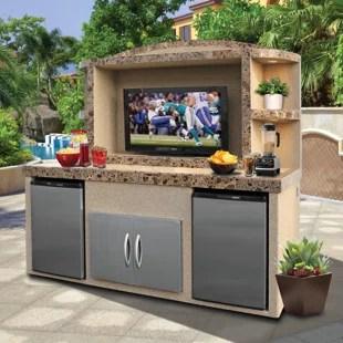 anzavia outdoor entertainment center serving bar