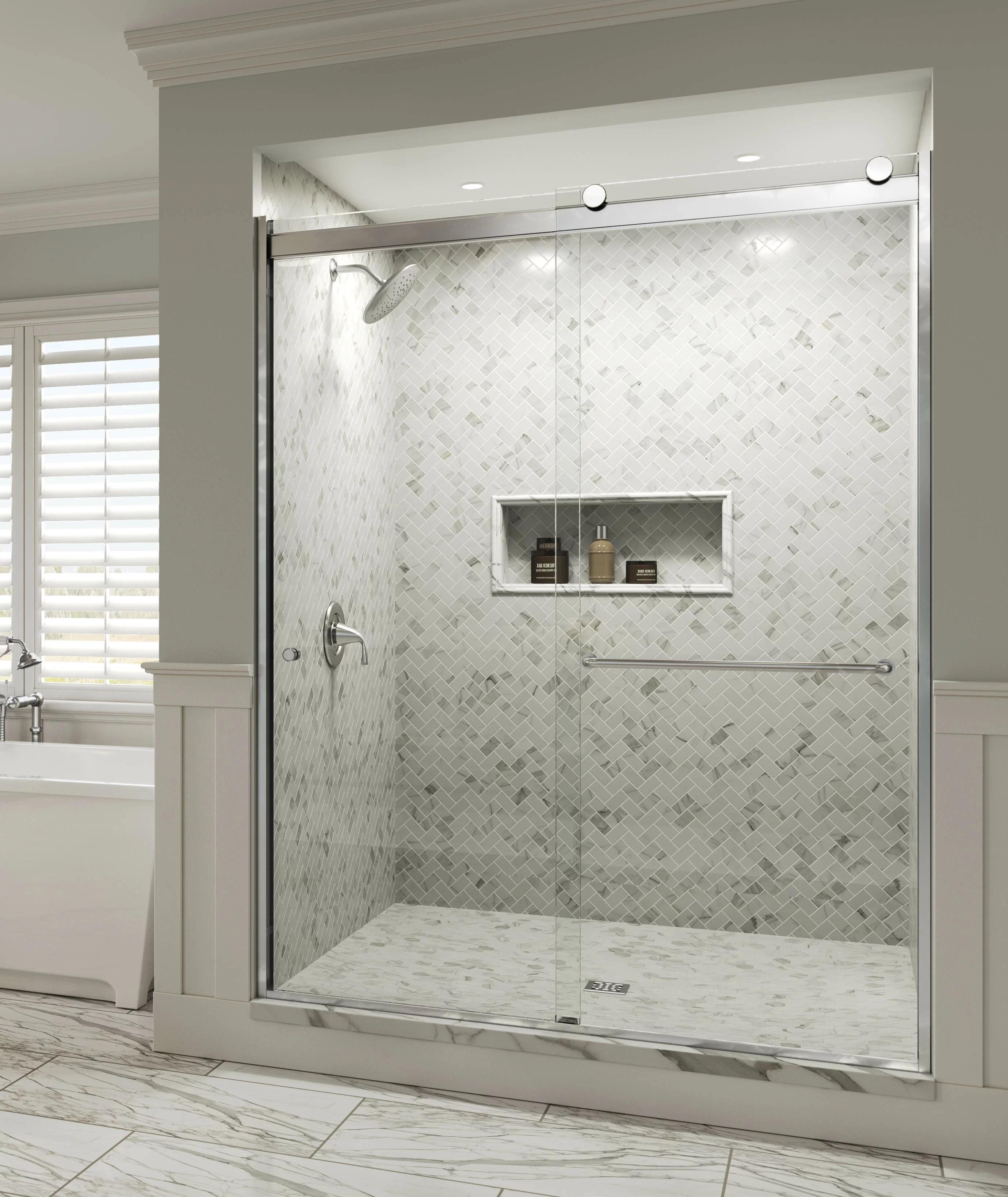 Rotolo 48 X 70 Bypass Semi Frameless Shower Door